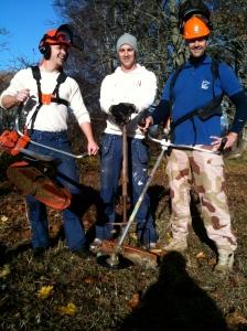 Peder, Jens och Henrik med gear