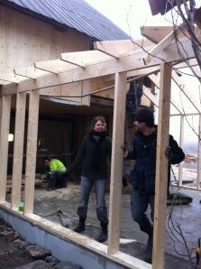 Anna och Björn på bygget