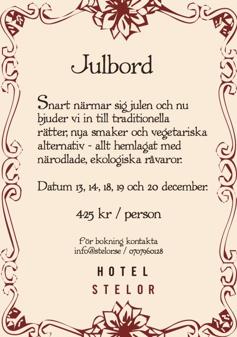 Julbord Hotel Stelor, Gotland
